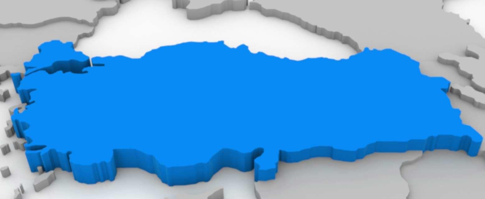 Kabartma Türkiye Haritası